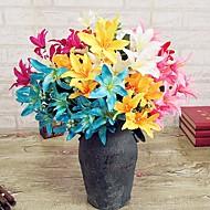 billige Kunstig Blomst-Kunstige blomster 1 Afdeling Moderne Stil Liljer Bordblomst