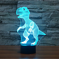 dinosaur touch dimming 3d ledet nat lys 7colorful dekoration atmosfære lampe nyhed belysning lys