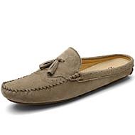 tanie Obuwie damskie-Dla obu płci Obuwie Nappa Leather Lato Jesień Comfort Mokasyny i pantofle na Casual Formalne spotkania Dark Blue Gray Khaki
