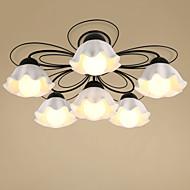 זול תאורה ומאווררים לתקרה-מסורתי / קלסי צמודי תקרה עבור סלון חדר שינה חדר אוכל AC 100-240V נורה כלולה