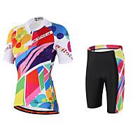 Miloto Camisa com Shorts para Ciclismo Mulheres Manga Curta Moto Pulôver Camisa/Roupas Para Esporte Tights Bib Shorts Secagem Rápida