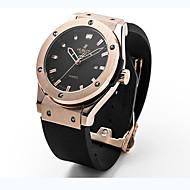 Dames Voor Stel Unisex Modieus horloge Polshorloge Kwarts Rubber Zwart 30 m / Analoog Informeel - Zwart Zilver Goud Rose