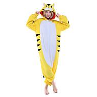 للبالغين بيجاما كيجورومي Tiger حيوانات بيجاما ونزي القطبية ابتزاز أصفر تأثيري إلى الرجال والنساء ملابس للنوم الحيوانات رسوم متحركة عطلة / عيد ازياء