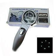 Lupas Uso Genérico / Para Leitura Genérico / Alta Definição / De Mão / LED 7X 50mm Normal Plástico