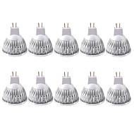 billige Spotlys med LED-zdm 10-pakke, mr16 / gu5.3 35w ledede pærer 210lm, 12v dc, 20 watt glødelaktig ekvivalent, ultralette energisparende spotlight