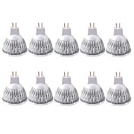 billige Spotlys med LED-ZDM® 10pcs 3W 250-300lm MR16 LED-spotpærer 1 LED perler COB Dekorativ Varm hvit Kjølig hvit 12V