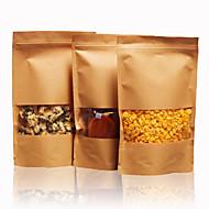 tørket frukt te bakervarer papirposer ziplock poser Kraft papir poser med mat en pakke med ti selv vindu