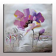 billiga Blom-/växtmålningar-HANDMÅLAD Abstrakt / Blommig/Botanisk olje~~POS=TRUNC,Moderna En panel Kanvas Hang målad oljemålning For Hem-dekoration