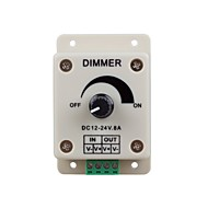 levne Vypínače-led lights stmívače přepínač pro LED pásek světla nebo LED lampy (DC 12-24V 8a)
