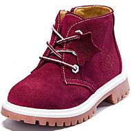 baratos Sapatos de Menino-Unisexo Sapatos Camurça Primavera / Outono / Inverno Coturnos Botas Sem Salto Cadarço Vermelho