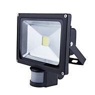 cheap LED Flood Lights-HRY LED Floodlight Sensor Waterproof Outdoor Lighting Warm White Cold White AC 85-265V
