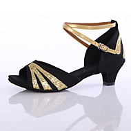 baratos Sapatilhas de Dança-Mulheres Tênis de Dança Paetês / Sintético Salto Salto Personalizado Personalizável Sapatos de Dança Fúcsia / Vermelho / Azul / Interior
