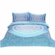 BeddingOutlet Luxury Boho Bedding Crystal Arrays Duvet Quilt Cover Blue Printed Bedspread 3Pcs New Arrivals