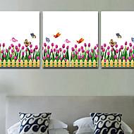 Blomster / Trær / Blader / Art Deco Bakgrunn For Hjem Moderne Tapetsering , PVC/Vinyl Materiale selvklebende nødvendig Mural , Room