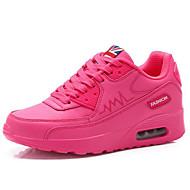 Žene Cipele Umjetna koža Proljeće Jesen Sneakers Hodanje Platformske cipele Creepersice Vezanje za Kauzalni Obala Crn Pink