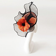 cheap Party Accessories-Flax Fascinators with 1 Wedding / Special Occasion Headpiece
