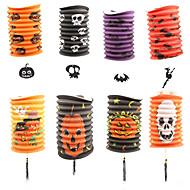 5pcs lanternas de abóbora telescópicos papel cilíndrica lanternas dia das bruxas adereços decorações suprimentos