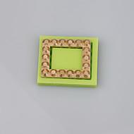 Firkantet form silikon mold for fondant kake dekorasjon verktøy smykker molds fimo leire mugg farge tilfeldig