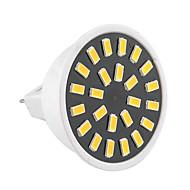 billige Spotlys med LED-GU5.3(MR16) LED-spotpærer MR16 24 leds SMD 5733 Dekorativ Varm hvit Kjølig hvit 400-500lm 2800-3200/6000-6500K AC 220-240 AC 110-130V
