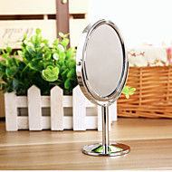 cheap Mirrors-Creative Metal Desktop Makeup Mirror Reversible Magnifying Mirror Small Rotating Mirror 1 2 Magnification Function