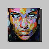Maalattu Ihmiset Neliö,Moderni 1 paneeli Kanvas Hang-Painted öljymaalaus For Kodinsisustus