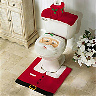 cheap christmas decorations santa snowman deer spirit toilet seat cover rug bathroom set with paper