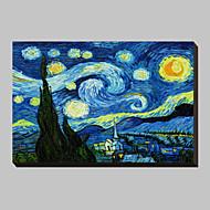 お買い得  プリント-星月夜ヴィンセント·ヴァン·ゴッホの有名なキャンバス地プリントc1889