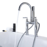 Bath Mixer With Shower Widespread Handshower Included with  Ceramic Valve Two Handles  Bathtub Faucet