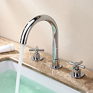 cheap Bathroom Sink Faucets-Bathroom Sink Faucet - Widespread Chrome Widespread Two Handles Three Holes