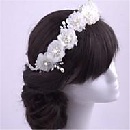Damen Künstliche Perle Chiffon Kopfschmuck-Hochzeit Besondere Anlässe Stirnbänder 1 Stück
