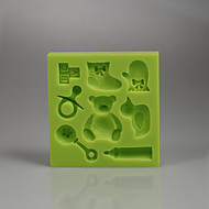 Bamse tegneserie serie form fondant kake silikon mold farge tilfeldig