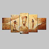 kézzel festett absztrakt ókori egyiptomi olaj, vászon 5db / szett keret nélkül