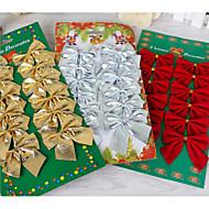12個の弓のクリスマスの装飾蝶の結び目の休日の装飾品