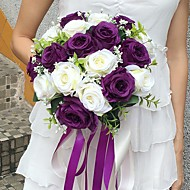 "Wedding Flowers Round Roses Bouquets Wedding Party/ Evening Satin 11.02""(Approx.28cm)"
