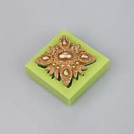 Fondant dekorere mold kake verktøy består av smykker silikon sjokolade mold farge tilfeldig