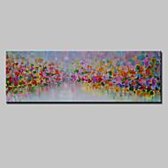 Maalattu Abstrakti Abstraktit maisemakuvat Vaakasuora,Moderni 1 paneeli Kanvas Hang-Painted öljymaalaus For Kodinsisustus