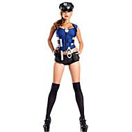 Policajci Karijera kostime Cosplay Nošnje Kostim za party Žene Halloween Karneval Festival / Praznik Halloween kostime Plava Jednobojni
