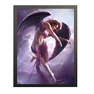 Tegneserier / fantasi Innrammet 3D-kunst Wall Art,PVC Materiale Svart Passpertou Inkludert med Frame For Hjem Dekor Frame Art