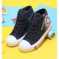 ユニセックス 靴 キャンバス 春 秋 オックスフォードシューズ ウォーキング フラットヒール 編み上げ 用途 カジュアル ダークブルー ライトブルー