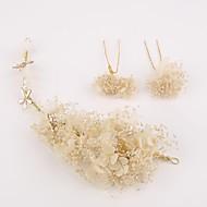 billiga Brudhuvudbonader-Material / Lin Blommor / Huvudbonad / Hårpinne med Blomma Bröllop / Party / Speciellt Tillfälle Hårbonad