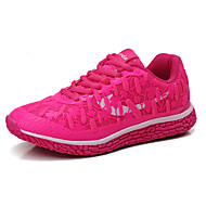 Damen Schuhe PU Frühling Herbst Komfort Sneakers Flacher Absatz Schnürsenkel Für Purpur Fuchsia Grün Blau
