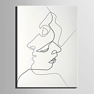 E-HOME® Stretched Canvas Art Figure Of The Line Decoration Painting  One Pcs