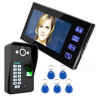 billige Dørtelefonssystem med video-Ennio touch key 7 lcd fingeravtrykk gjenkjenning video dør telefon intercom system ir kamera hd 1000 tvline