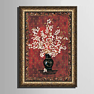 Blomstret/Botanisk Innrammet Lerret / Innrammet Sett Wall Art,PVC Materiale Gylden Ingen Passpartou med Frame For Hjem Dekor Frame Art