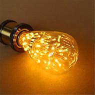 E26/E27 LED kulaté žárovky ST64 54 lED diody Dip LED Ozdobné Teplá bílá 800lm 2300K AC 220-240V
