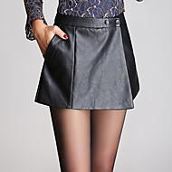 Dame Plusstørrelser Jeans Bukser Ensfarvet