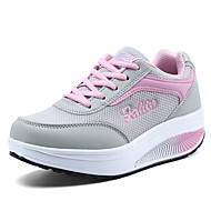 Women's Sneakers Spring  / Creepers Tulle Office & Career / Athletic / Casual Wedge Heel Lace-up Blue / PinkWalking