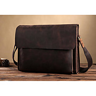 Men Bags Cowhide leatherette Zipper for Casual Formal Summer All Seasons Coffee