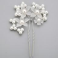ieftine Șic Floral-imitație de perle din aliaj de acril periuțe de păr picior stil elegant