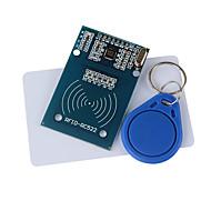 módulo RFID rc522 + IC Card + S50 cartões Fudan chaveiro para (para arduino) fornecem código de desenvolvimento